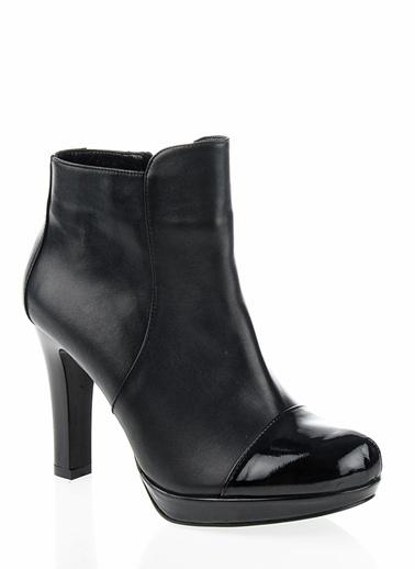 Cotton Bar İnce Topuklu Bot Siyah